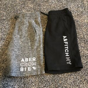 Abercrombie kids 2 pairs of jersey shorts